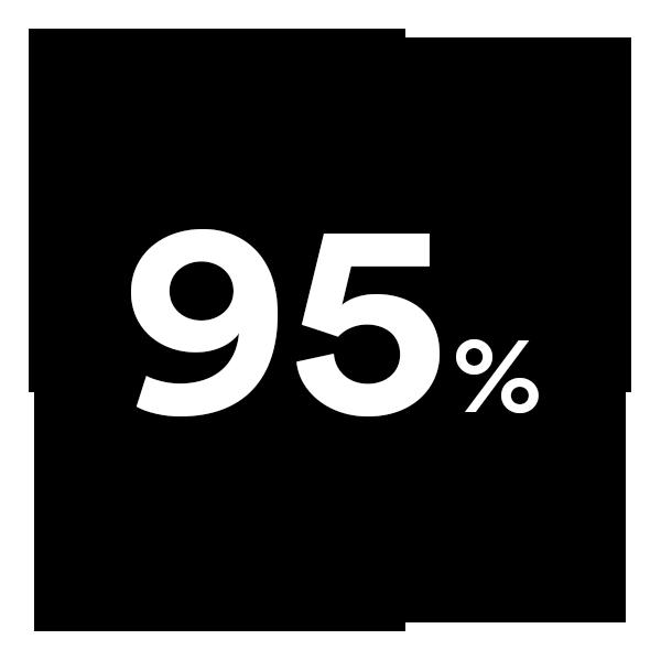 Fünfundneunzig Prozent