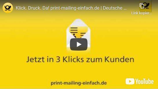 Klick. Druck. Da! print-mailing-einfach.de Deutsche Post