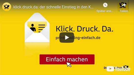 klick.druck.da: der schnelle Einstieg in den Kundendialog Deutsche Post